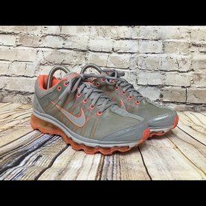 Nike Air Max orange and gray
